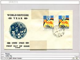 Peru 1960 - Michel 592-593 Auf FDC / Sur FDC - Pérou