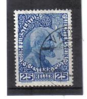 BAU400 LIECHTENSTEIN 1912 Michl  3 X Gestempelt / Entwertet ZÄHNUNG SIEHE ABBILDUNG - Gebraucht