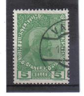 BAU399 LIECHTENSTEIN 1912 Michl  1 Y Gestempelt / Entwertet ZÄHNUNG SIEHE ABBILDUNG - Gebraucht