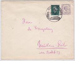 Deutsches Reich Auslands GU Mit Ebert Frankatur Als Ortsbrief In Mülheim Gelaufen SST - Briefe U. Dokumente
