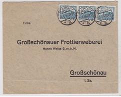 Deutsches Reich Brief Ab Bocholt An Die Großschönauer Frottierweberei Mit MEF - Briefe U. Dokumente