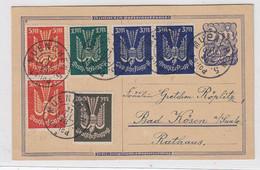 Deutsches Reich Karte Mit 6 FLP-Marken Von München Nach Bad Kösen - Briefe U. Dokumente