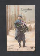 CARTE PATRIOTIQUE - BONNE ANNEE - 29 - 12 - 1915  - SOLDAT  (10.354) - Patriottiche
