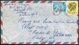 Jamaica 1973 Air Mail Cover RICHMOND Pmk Franked 1c Pimento Pepper Allspice + 4c Kingston Harbour Causeway > UK G - Jamaica (1962-...)
