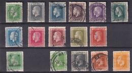 NEW ZEALAND NEUSEELAND 1915/21  LOT KGV 1/2d-1/-/ Ex Mi 136-163 VFU - Used Stamps