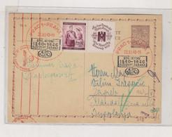 BOHEMIA & MORAVIA 1940 PRAG PRAHA Censored Postal Stationery To Yugoslavia - Briefe U. Dokumente