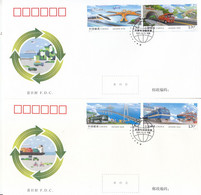 China 2021-24 Sustainable Development Of Transport In China Stamps FDC - 2010-2019