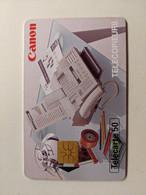 TELECARTE FRANCE TELECOM  50 CANON FAX TELECOPIEUR LUMINAIRE REVEIL BUREAU - Advertising