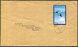 Jamaica 1985 Cover MAHAGA Pmk Franked 75c Blue Marlin Fleet Fishing Boat Ship Fish Fisch Fischerei Poisson Pêche > UK GB - Jamaica (1962-...)
