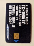 TELECARTE FRANCE TELECOM  50 SECURITE ROUTIERE - Advertising