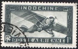 Indochine Avion Obl Yv:11 Mi:194 Monoteur (Beau Cachet Rond) - Aéreo
