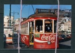 PHOTO   TRAM 20 LISBONNE PORTUGAL PUBLICITE COCA REPRO - Tranvía