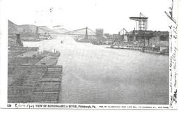 "AMERIQUE - PENNSYLVANIA - "" WIEW OF MONONGAHELA RIVER, PITTSBURGH, PA "" N° 520 - Circulé France 1904 - Pittsburgh"