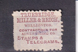 NEW ZEALAND NEUSEELAND 1893  QV 1d/ SG 193b ADVERT ON REVERSE U CV GBP 25 - Used Stamps