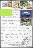 Jamaica 1994 Postcard MONTEGO BAY Pmk Franked Coat Of Arms Golf Blue Mountains Tourism PPC (Bob Marley Memorial) >Russia - Jamaica (1962-...)