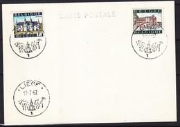 Belgique - Carte Postale De 1967 - Oblit Liège - Ypres Et Spontin - - Briefe U. Dokumente