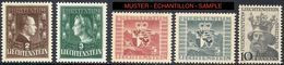 Liechtenstein 1944/7: Fürsten Wappen Luzius Zu 202-206 Mi 238-239+243+247+252 Yv 213-214+218+222+27 * MLH (Zu CHF 75.00) - Ungebraucht