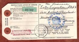 Dispatch Note, ? Nach Velbert 1973 (5383) - Briefe U. Dokumente