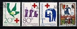 Liechtenstein  1963  Yv. 378/80, 383, Mi 428/30 (o) - Gebraucht