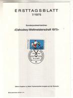 Allemagne - République Fédérale - Document FDC De 1975 ° - Oblit Bonn - Hockey Sur Glace - - Brieven En Documenten