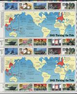 258 ETATS UNIS (USA) 1993 - Yvert 2168 77 X 2 (Feuille) - 2e Guerre Mondiale 1943 - Neuf **(MNH) Sans Trace De Charniere - Ungebraucht