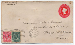 CANADA - MONTREAL - QV - KEVII /1904 ENTIER POSTAL & COMPLEMENT ==> FRANCE (ref 8611a) - Covers & Documents