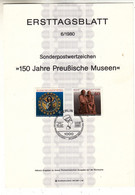 Allemagne - Berlin - Document FDC De 1980 ° - Oblit Berlin - Musée Prusse - - Briefe U. Dokumente