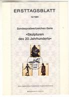 Allemagne - Berlin - Document FDC De 1981 ° - Oblit Berlin - Sculptures - - Briefe U. Dokumente