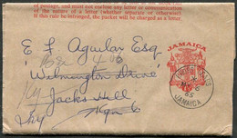 Jamaica 1965 Redirected 1½ D Postal Stationery Wrapper CROSS ROADS Pmk Streifband Ganzsache Entier Bande De Journal - Jamaica (1962-...)