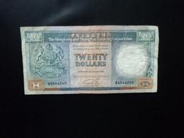 HONG KONG : 20 DOLLARS   1.1.1989     P 192c    TTB * - Hongkong