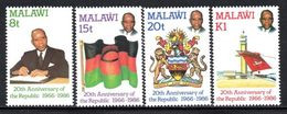 Malawi - 1986 20th Anniversary Of The Republic Set (**) # SG 751-754 - Malawi (1964-...)