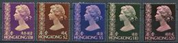262 HONG KONG 1973 - Yvert 275/79 Que Grands Formats - Elizabeth II - Neuf ** (MNH) Sans Trace De Charniere - Unused Stamps