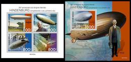 GUINEA BISSAU 2021 - Hindenburg Zeppelin, M/S + S/S. Official Issue [GB210323] - Guinea-Bissau