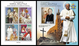GUINEA BISSAU 2021 - Pope John Paul II, M/S + S/S. Official Issue [GB210324] - Guinea-Bissau