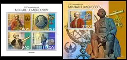 GUINEA BISSAU 2021 - Mikhail Lomonosov, M/S + S/S. Official Issue [GB210328] - Guinea-Bissau