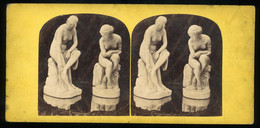Stereoview - Statue / Sculpture - The Bathers - Stereoscopi