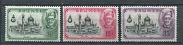 264 BRUNEI 1958 - Yvert 98/100 - Mosquee - Neuf ** (MNH) Sans Trace De Charniere - Brunei (...-1984)