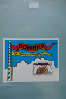 DOMINIQUE BLOC  FEUILLET  N 47  HISTORY CARNAVAL+ GOMME IMPECCABLE - Dominican Republic