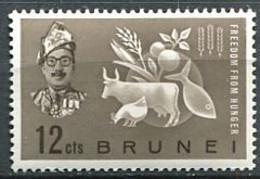 264 BRUNEI 1963 - Yvert 101 - Contre La Faim Bovin Fruit Cereale - Neuf ** (MNH) Sans Trace De Charniere - Brunei (...-1984)