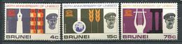 264 BRUNEI 1966 - Yvert 124/26 - UNESCO - Neuf ** (MNH) Sans Trace De Charniere - Brunei (...-1984)