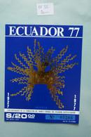 ECUADOR BLOC  FEUILLET  N 35  1977+ NEUF - Dominican Republic