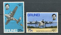 264 BRUNEI 1972 - Yvert 180/81 - Royale Air Force Avion - Neuf ** (MNH) Sans Trace De Charniere - Brunei (...-1984)