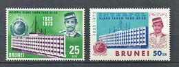 264 BRUNEI 1973 - Yvert 184/85 - Batiment Saint Cloud - Neuf ** (MNH) Sans Trace De Charniere - Brunei (...-1984)