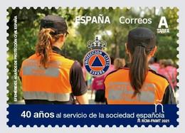 R010.MADRID.1/ ESPAÑA 2021 MNH**, EFEMERIDES. 40 ANIV.PROTECCION CIVIL ESPAÑA - 2011-... Nuovi & Linguelle