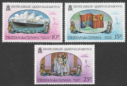 Tristan Da Cunha. 1977 Silver Jubilee. MNH Complete Set. SG 212-214 - Tristan Da Cunha