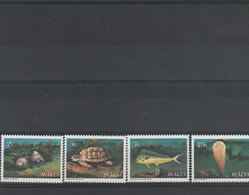 Malte - Yvert  Série 588 à 591 ** - Coquillages Tortue Poissons - Malta