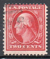 United States, 1908/09 - 2 Cents Washington - Nr.332 Usato° - Used Stamps