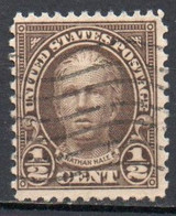 United States, 1922 - 1/2c Nathan Hale - Nr.551 Usato° - Used Stamps