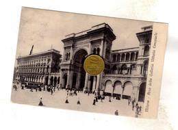 MILANO ARCO DELLA GALLERIA CON TRAM ELETTRICO Viaggiata 1912 - Milano (Milan)