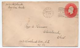CANADA - REGINA - SASKATCHEWAN /1912  ENTIER POSTAL ==> USA (ref 8613a) - Covers & Documents